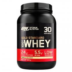 Optimum Nutrition Gold Standard 100% Whey Proteine Isolate in Polvere con Aminoacidi Gelato alla Vaniglia - Barattolo da 900g