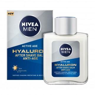 Nivea Men Active Age Hyaluron Balsamo Dopobarba Anti-età - Flacone da 100 ml