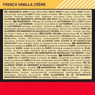 Optimum Nutrition Gold Standard 100% Whey Proteine Aminoacidi in Polvere Gusto Crema di Vaniglia Francese - Barattolo da 900g