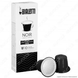 10 Capsule Caffè Bialetti Noir Gusto Forte Cialde Compatibili Nespresso