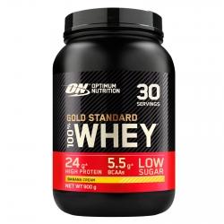 Optimum Nutrition Gold Standard 100% Whey Proteine Isolate in Polvere con Aminoacidi Crema di Banana - Barattolo da 900g