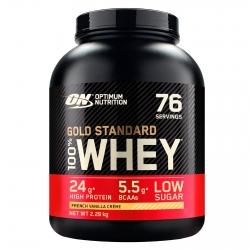 Optimum Nutrition Gold Standard 100% Whey Proteine Isolate in Polvere con Aminoacidi Vaniglia Francese - Barattolo da 2,28kg