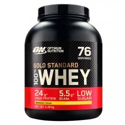 Optimum Nutrition Gold Standard 100% Whey Proteine Isolate in Polvere con Aminoacidi Crema di Banana - Barattolo da 2,28kg