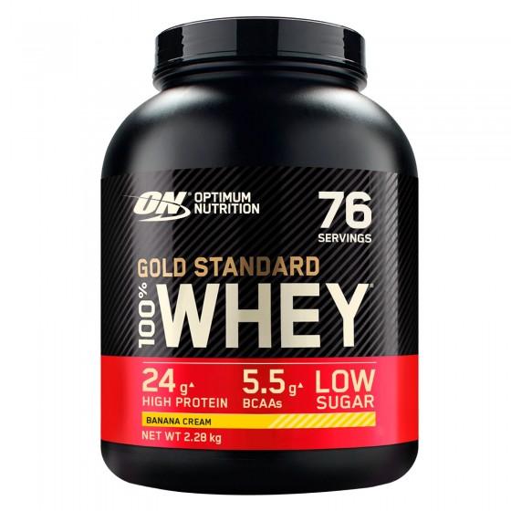 Optimum Nutrition Gold Standard 100% Whey Proteine Aminoacidi in Polvere Gusto Crema di Banana - Barattolo da 2,28kg