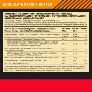 Optimum Nutrition Gold Standard 100% Whey Proteine Aminoacidi in Polvere Cioccolato Burro di Arachidi - Barattolo da 2,27kg