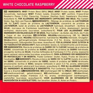 Optimum Nutrition Gold Standard 100% Whey Proteine Aminoacidi in Polvere Cioccolato Bianco e Lampone - Barattolo da 2,28kg