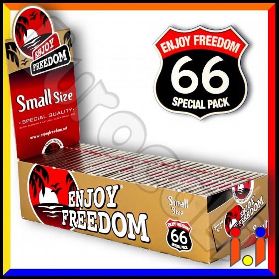 Cartine Enjoy Freedom Small Size Corte Oro - Scatola da 66 Libretti