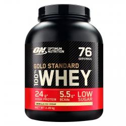 Optimum Nutrition Gold Standard 100% Whey Proteine Isolate Polvere con Aminoacidi Gelato alla Vaniglia - Barattolo da 2,28kg