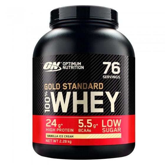 Optimum Nutrition Gold Standard 100% Whey Proteine Aminoacidi in Polvere Gelato alla Vaniglia - Barattolo da 2,28kg