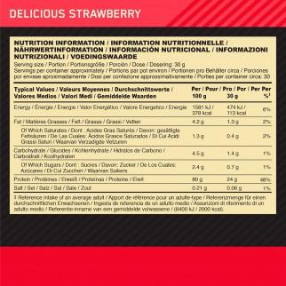 Optimum Nutrition Gold Standard 100% Whey Proteine Aminoacidi in Polvere Gusto Fragola - Barattolo da 2,28kg