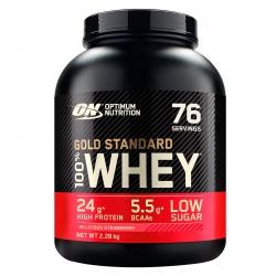 Optimum Nutrition Gold Standard 100% Whey Proteine Isolate in Polvere con Aminoacidi Fragola - Barattolo da 2,28kg