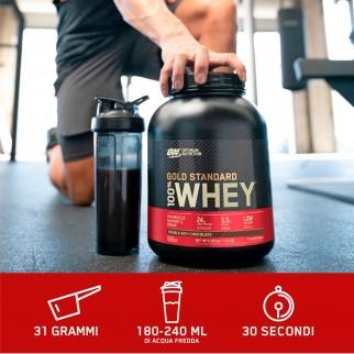 Optimum Nutrition Gold Standard 100% Whey Proteine Aminoacidi in Polvere Gusto Biscotti e Panna - Barattolo da 2,27kg