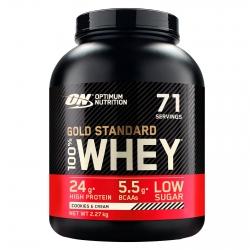 Optimum Nutrition Gold Standard 100% Whey Proteine Isolate Polvere con Aminoacidi Biscotti e Panna - Barattolo da 2,27kg