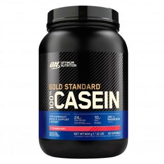 Optimum Nutrition Gold Standard 100% Casein Proteine Aminoacidi in Polvere per la Notte alla Fragola - Barattolo da 924g