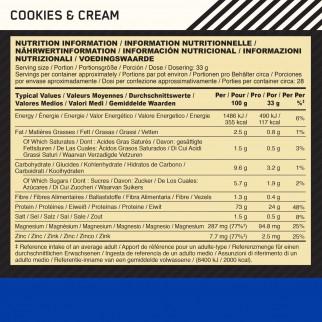Optimum Nutrition Gold Standard 100% Casein Proteine Aminoacidi in Polvere per la Notte Biscotti e Panna - Barattolo da 924g