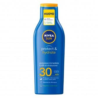 Nivea Sun Latte Solare Protect & Hydrate Protezione Alta SPF 30 - Flacone da 200 ml