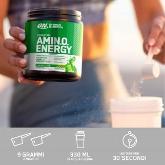 Optimum Nutrition Essential Amino Energy Aminoacidi Vitamina C e Caffeina al Gusto Fragola e Lime - Barattolo da 270g