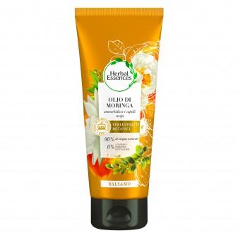 Herbal Essences Balsamo Capelli Crespi Idratante all'Olio di Moringa - Flacone da 200 ml