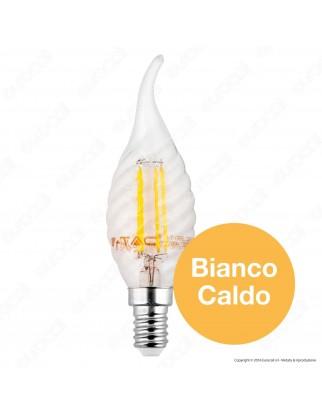 V-Tac VT-1995 Lampadina LED E14 4W Candela Fiamma Twist Filamento - SKU 4308 / 4431