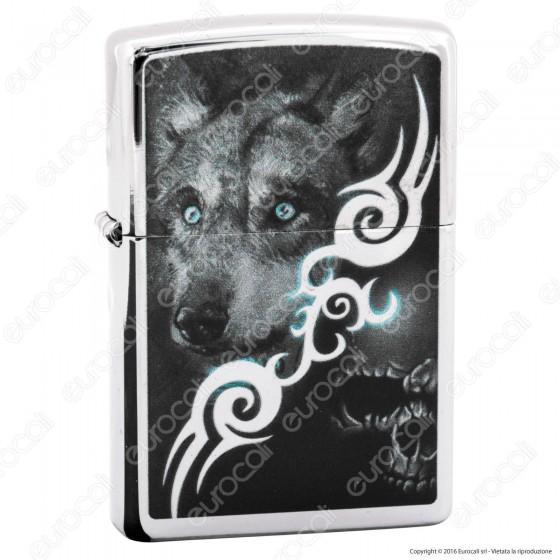 Accendino Zippo Mod. 28872 Wolf Tattoo - Ricaricabile Antivento