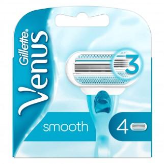Gillette Venus Smooth Lamette di Ricambio per Rasoio Donna - Confezione da 4 Pezzi