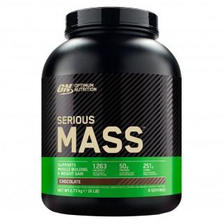 Optimum Nutrition Serious Mass Proteine Whey in Polvere per Sviluppo Muscolare al Cioccolato - Barattolo da 2,73Kg