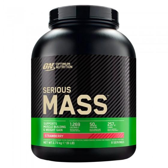 Optimum Nutrition Serious Mass Proteine Whey in Polvere per Sviluppo Muscolare alla Fragola - Barattolo da 2,73Kg