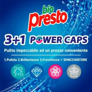 Bio Presto Power Caps Classico Detersivo in Capsule per Lavatrice - Confezione da 60 Capsule