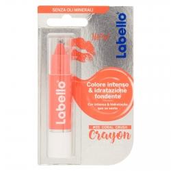 Labello Crayon Lipstick Coral Crush Matitone Labbra Colora e Idrata - Confezione da 1 pezzo