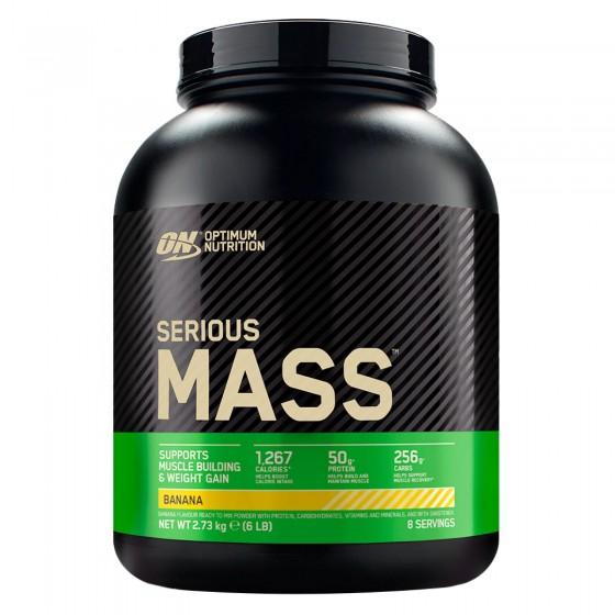 Optimum Nutrition Serious Mass Proteine Whey in Polvere per Sviluppo Muscolare alla Banana - Barattolo da 2,73Kg