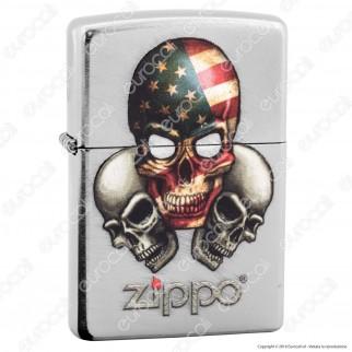 Accendino Zippo Mod. 16L022 Three Skulls - Ricaricabile Antivento