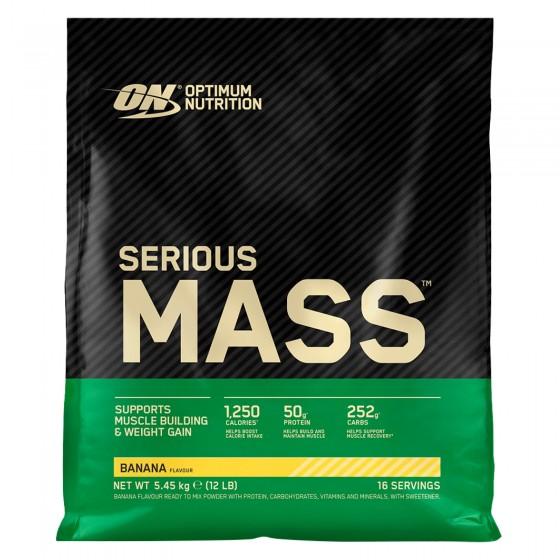 Optimum Nutrition Serious Mass Proteine Whey in Polvere per Sviluppo Muscolare alla Banana - Busta da 5,45Kg