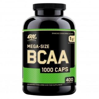 Optimum Nutrition Mega-Size BCAA 1000 Caps Aminoacidi a Catena Ramificata - Barattolo da 400 Capsule