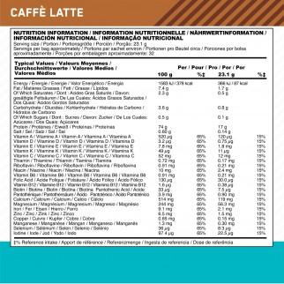 Optimum Nutrition Lean Whey Proteine Siero del Latte Basso Contenuto di Grassi con Vitamine Gusto Caffè Latte - Busta da 740g