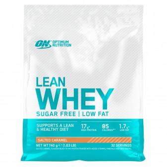 Optimum Nutrition Lean Whey Proteine Siero del Latte Basso Contenuto Grassi con Vitamine Gusto Caramello Salato - Busta da 740g