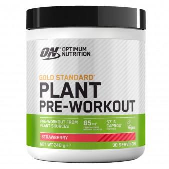 Optimum Nutrition Gold Standard Plant Pre-workout Vegano in Polvere con Caffeina Gusto Fragola - Barattolo da 240g