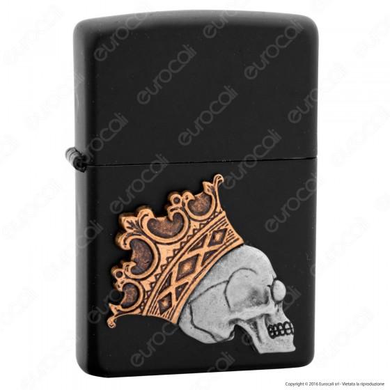 Accendino Zippo Mod. 29100 King Skull Placca - Ricaricabile Antivento