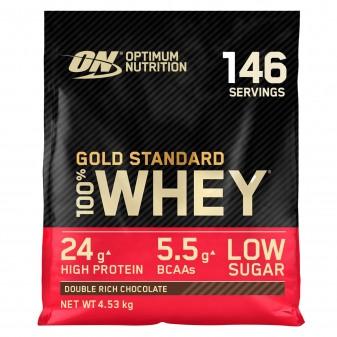 Optimum Nutrition Gold Standard 100% Whey Proteine Isolate Polvere con Aminoacidi Doppio Cioccolato - Busta da 4,53kg