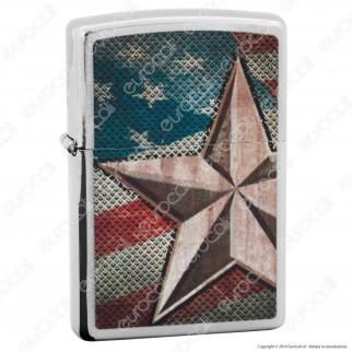Accendino Zippo Mod. 28653 Star USA - Ricaricabile Antivento