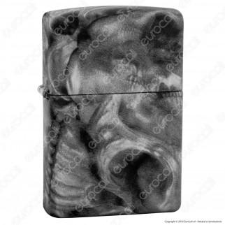 Accendino Zippo Mod. 28970 Smoky Skull Soft Touch - Ricaricabile Antivento