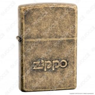 Accendino Zippo Mod. 28994 Zippo Antique Brass Logo - Ricaricabile Antivento
