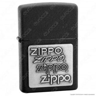 Accendino Zippo Mod. 363 Zippo Placca - Ricaricabile Antivento