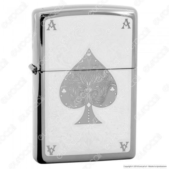 Accendino Zippo Mod. 28323 Ace Filigree (Finitura Black ice) - Ricaricabile Antivento