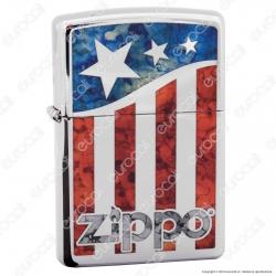 Accendino Zippo Mod. 29095 Zippo US flag - Ricaricabile Antivento