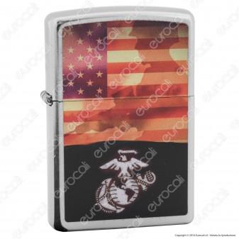 Accendino Zippo Mod. 29123 US Marine - Ricaricabile Antivento
