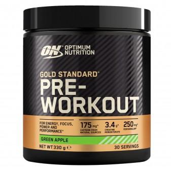 Optimum Nutrition Gold Standard Pre-workout in Polvere con Creatina Monoidrato Gusto Mela Verde - Barattolo da 330g