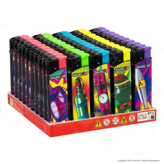 SmokeTrip Accendini Elettronici Ricaricabili Fantasia Bombe - Box da 50 Accendini
