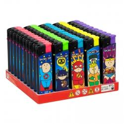 SmokeTrip Accendini Elettronici Ricaricabili Fantasia Fat Heroes - Box da 50 Accendini