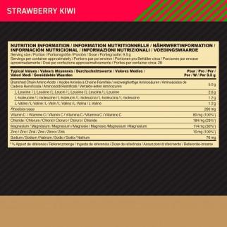 Optimum Nutrition Gold Standard BCAA Train Sustain Aminoacidi Ramificati in Polvere Gusto Fragola e Kiwi - Barattolo 266g