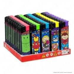 SmokeTrip Accendini Elettronici Ricaricabili Fantasia Fat Heroes 2 - Box da 50 Accendini